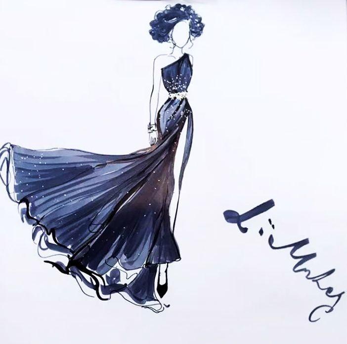 灰色星空-婚纱礼服设计-服装设计
