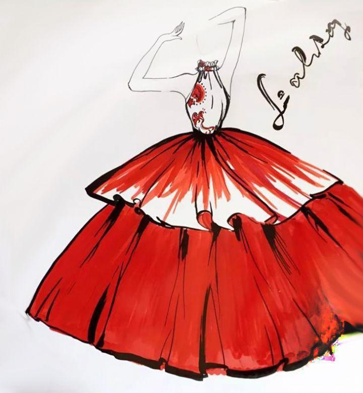 血染-婚纱礼服设计-服装设计