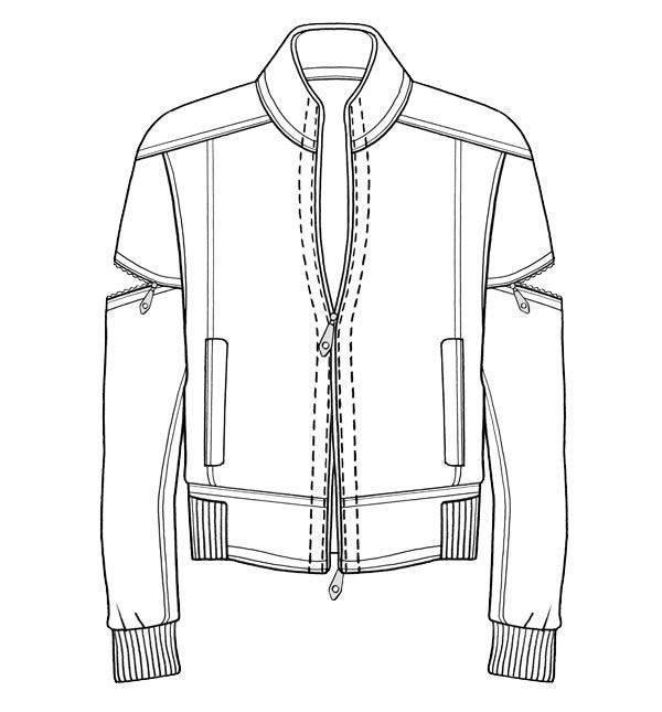 夹克外套款式图-男装设计-服装设计