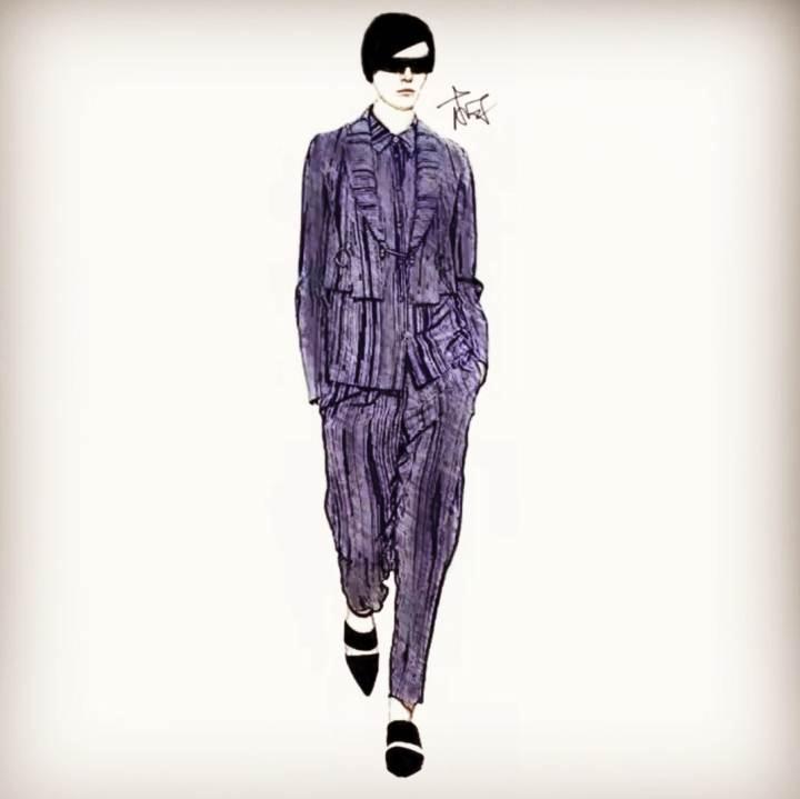 帅气中性风-女装设计-服装设计