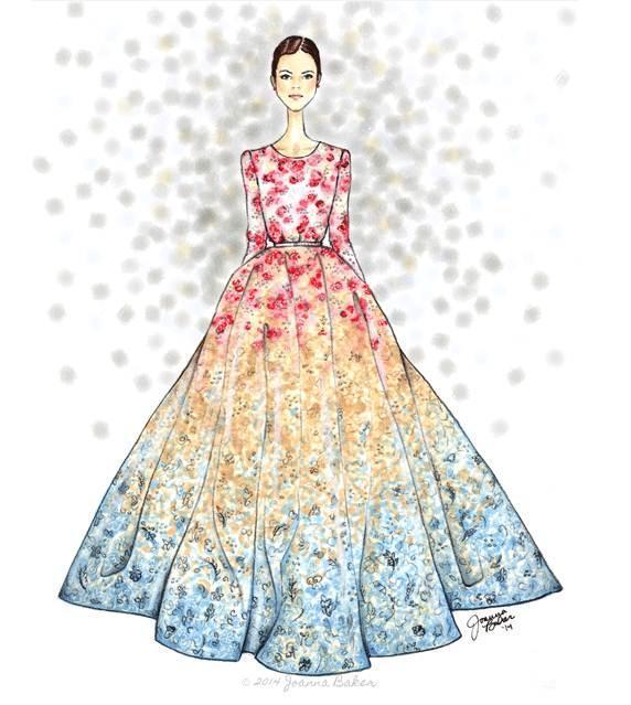 晚礼服-婚纱礼服设计-服装设计