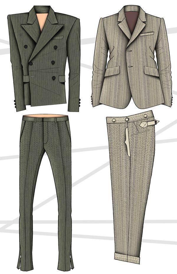 西装-男装设计-服装设计