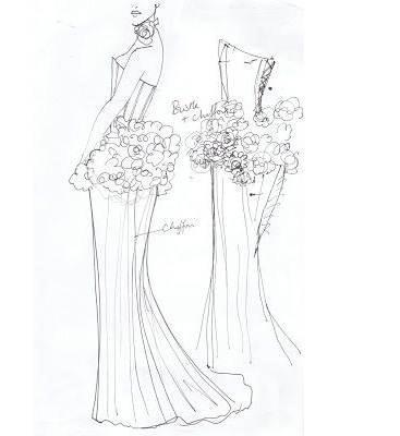 铅笔稿礼服搜集-婚纱礼服设计-服装设计