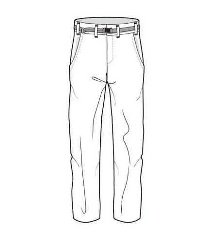 手绘绘制裤子款式图