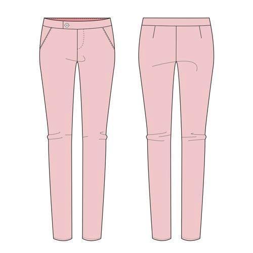 裤子款式图-女装设计-服装设计