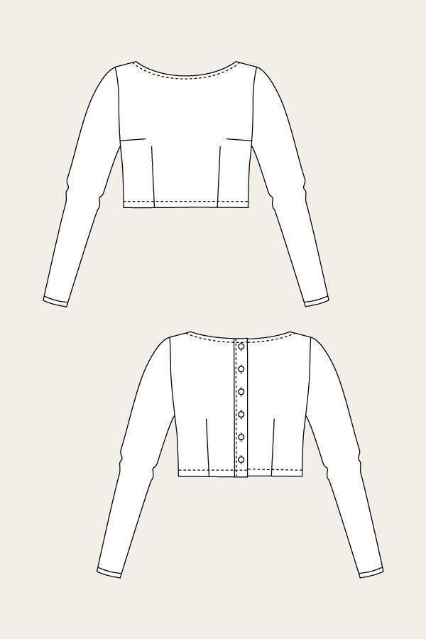 小外套款式图-女装设计-服装设计