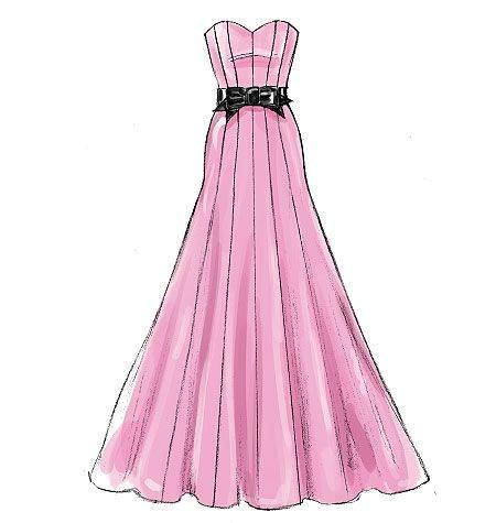 抹胸礼服-婚纱礼服设计-服装设计