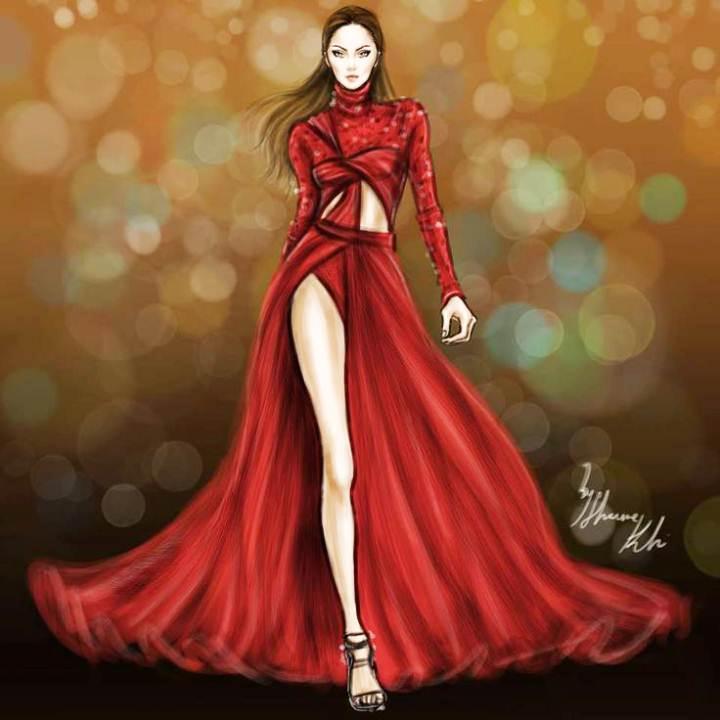 晚禮服-婚紗禮服設計-服裝設計