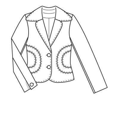 休闲西装款式图-女装设计-服装设计