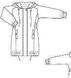 风衣外套款式图