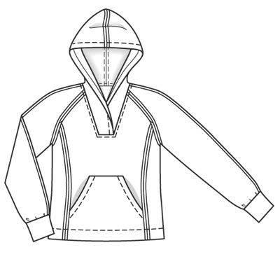 卫衣款式图-童装设计-服装设计