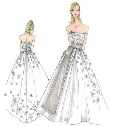 婚纱手绘图稿搜集