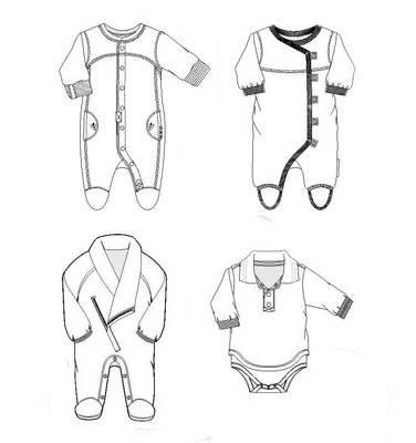 婴幼装款式图-童装设计-服装设计