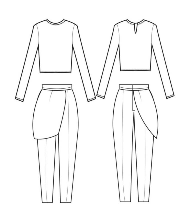 款式图样-女装设计-服装设计