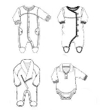婴幼装款式图