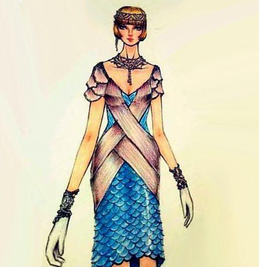 鱼美人-婚纱礼服设计-服装设计