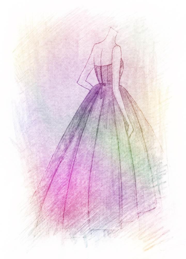 婚纱手绘设计效果图图片  图片设计素材大全_高清图片素材下载_觅知网