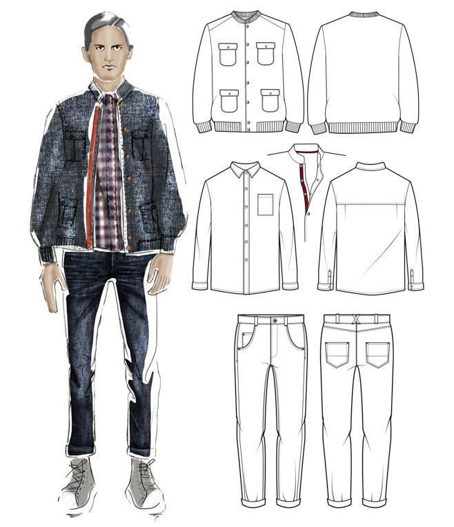 男士休闲 款式-男装设计-服装设计