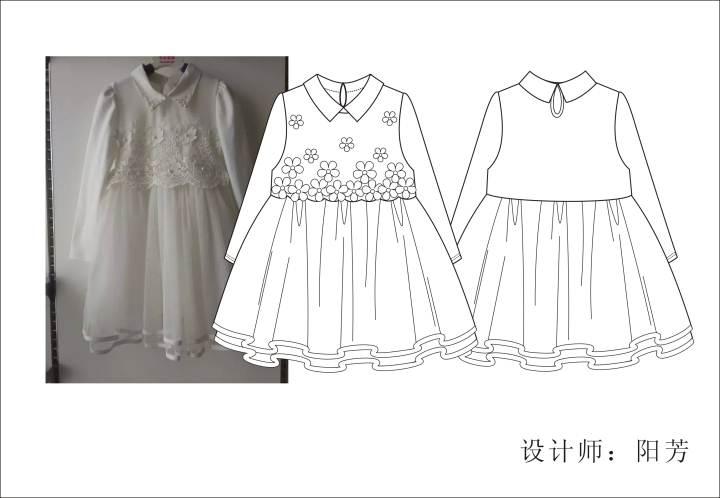 童装连衣裙款式图-童装设计-服装设计