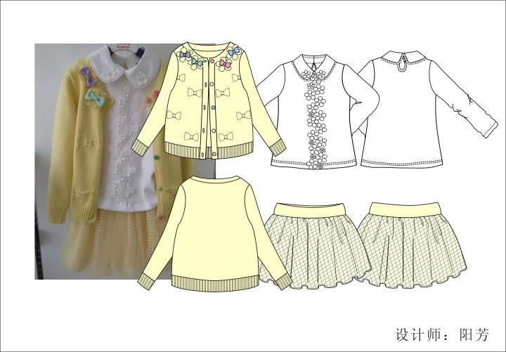 童装作品-童装款式图