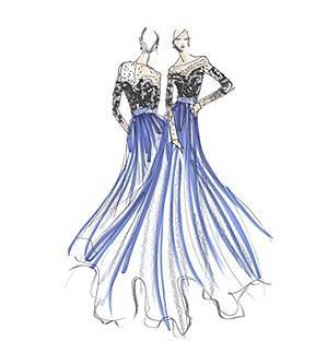 手绘晚礼服搜集作品-手绘晚礼服搜集款式图
