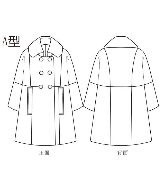 大衣款式图-女装设计-服装设计图片