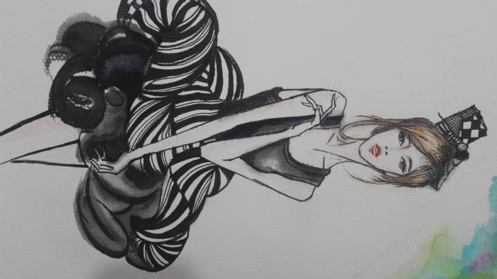 手绘服装效果图纹样