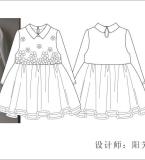 童装连衣裙款式图