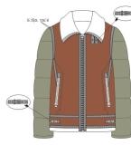 棉夹克款式图