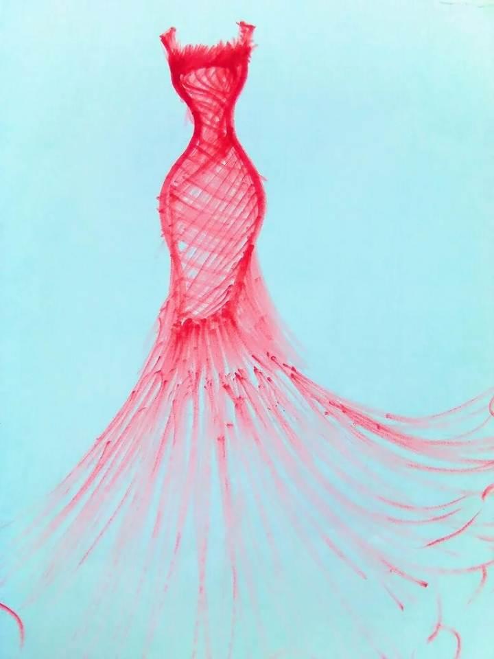 鱼尾裙-其它设计设计-服装设计