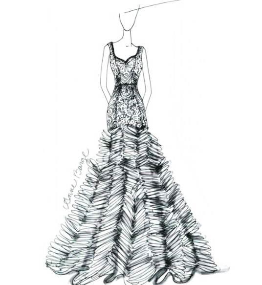 手稿礼服作品-手稿礼服款式图