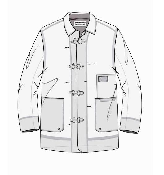 大衣外套款式图-男装设计-服装设计