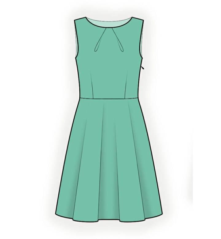 无袖连衣裙款式图-女装设计-服装设计
