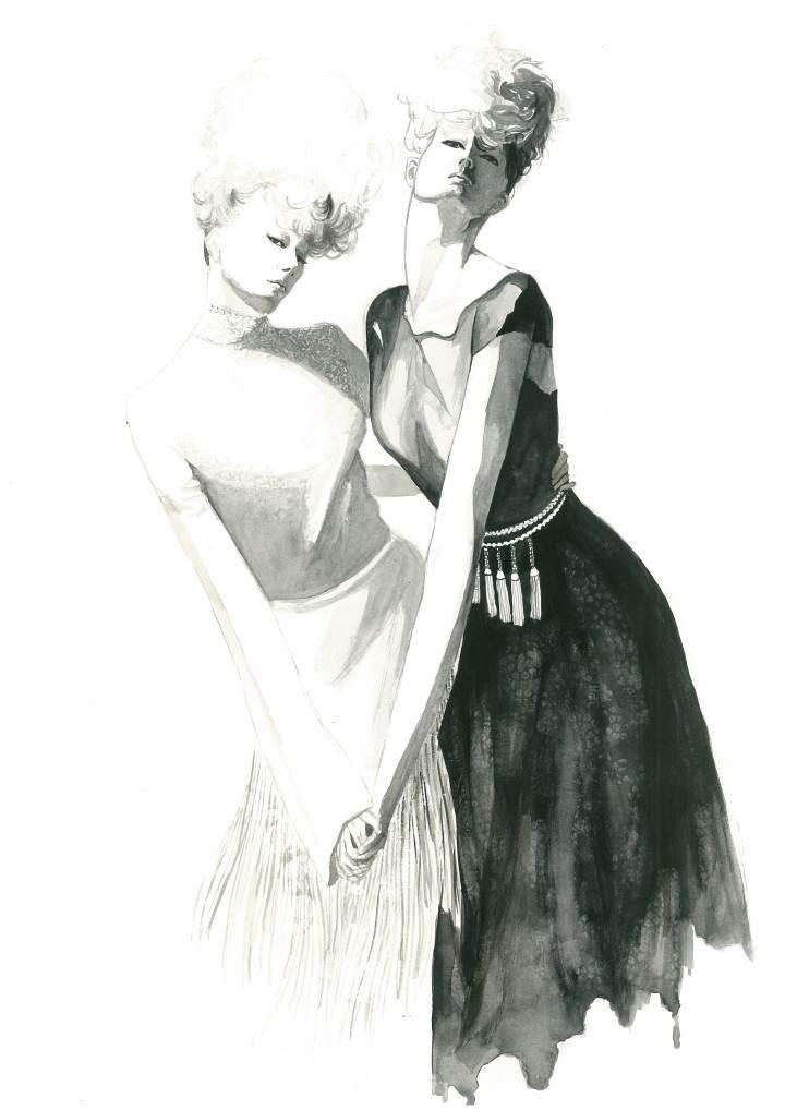 时装画-女装设计-服装设计
