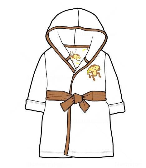 儿童睡袍-内衣/家居设计-服装设计