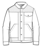 夹克外套款式图