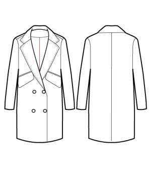 手绘大衣外套效果图