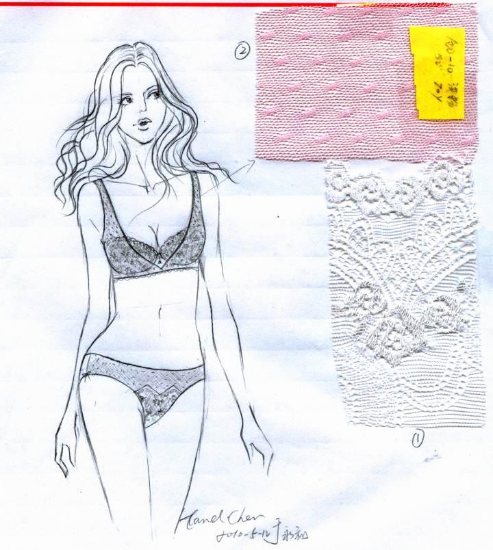 原创内衣设计手稿