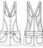 背带短裙款式图