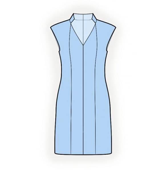 旗袍式连衣裙款式图-女装设计-服装设计