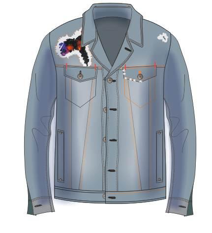 牛仔外套-男装设计-服装设计