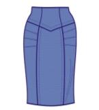 半裙款式图