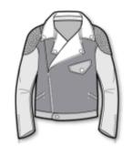 皮夹克款式图