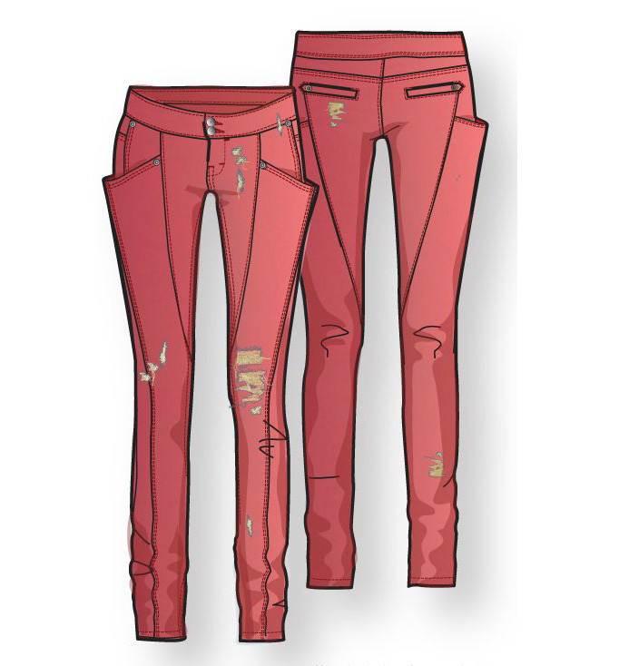裤子作品-裤子款式图