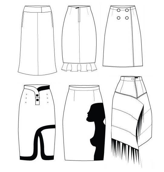 半裙款式图集
