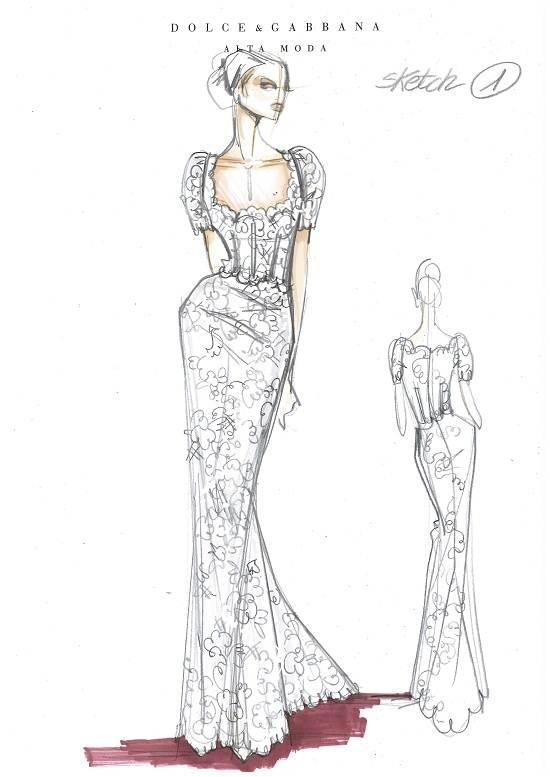 晚礼服手绘稿搜集-婚纱礼服设计-服装设计