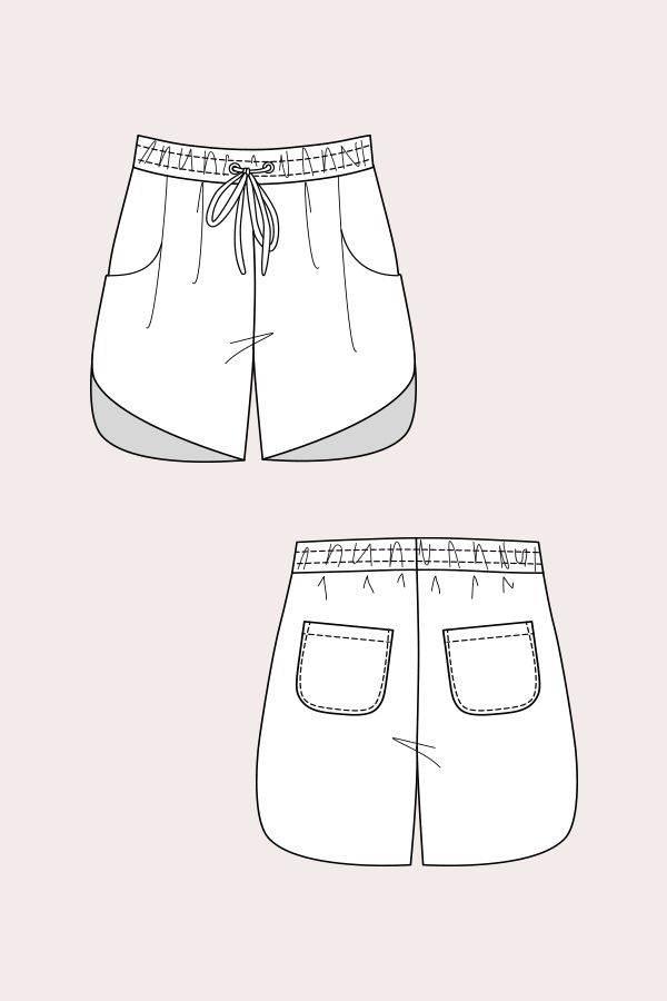短裤-女装设计-服装设计