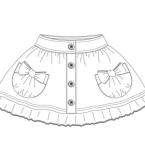 童装裙子款式图
