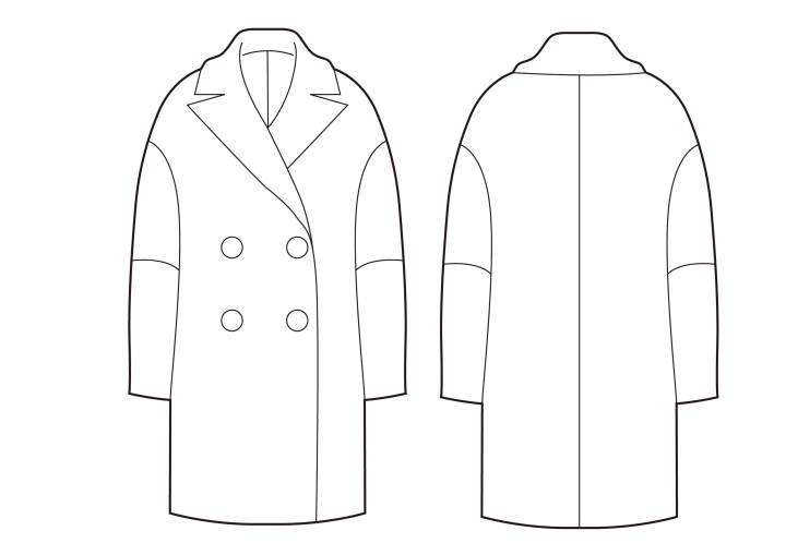 女装廓形大衣-女装设计-服装设计