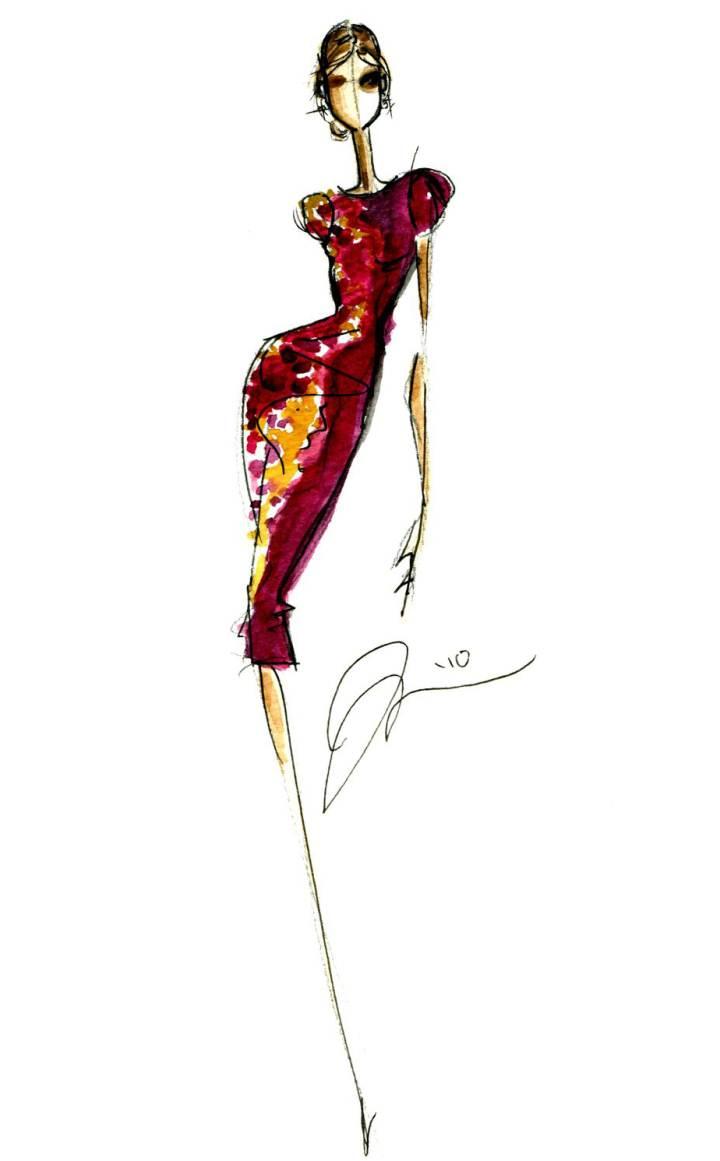 小礼服作品-小礼服款式图